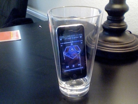 iPhone in a cup
